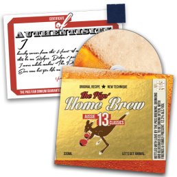 """Preorder Pack 1 - The Pigs' Home Brew CD & 1"""" Singlet Square with Certificate of Authenticity"""
