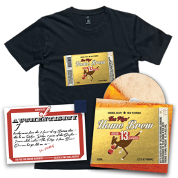 """Preorder Pack 3 - The Pigs' Home Brew CD & Home Brew T-Shirt & 1"""" Singlet Square"""